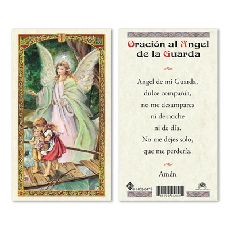 Estampa Oración Al ángel De La Guarda